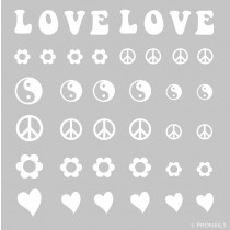 Nail Stickers Peace & Love POISTUVA TUOTE