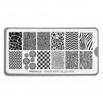 ProNails Stamping Plate Street Heat Collection + Scraper