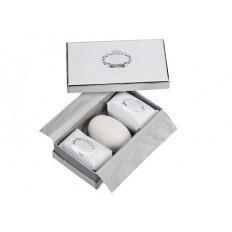 Portus Cale White and Silver Soap Set 3 x 150g
