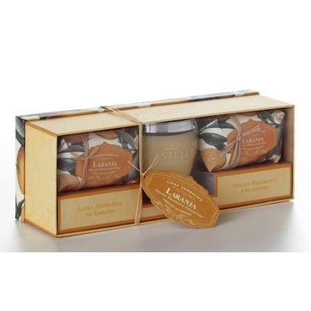 Castelbel Ambiente Orange Gift Set Candle + 2 Soaps 150g