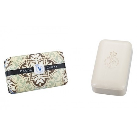 Portuguese Tile Cocoa and Cedar 300g Tile Soap