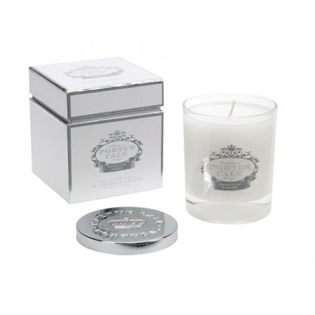 Portus Cale White and Silver Fragnanced Candle